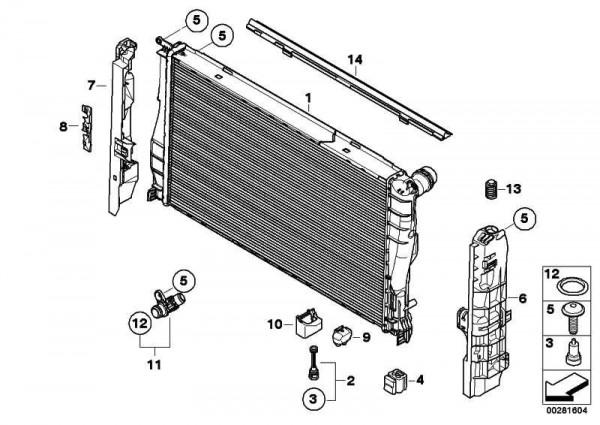 Kühlmittelkühler 1er 3er X1 Z4 (17117547059)